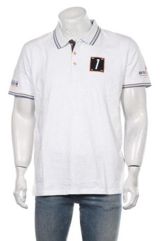 Мъжка тениска Tom Tailor, Размер XL, Цвят Бял, Памук, Цена 29,40лв.