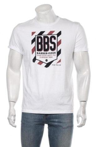 Мъжка тениска Tom Tailor, Размер M, Цвят Бял, Памук, Цена 24,00лв.