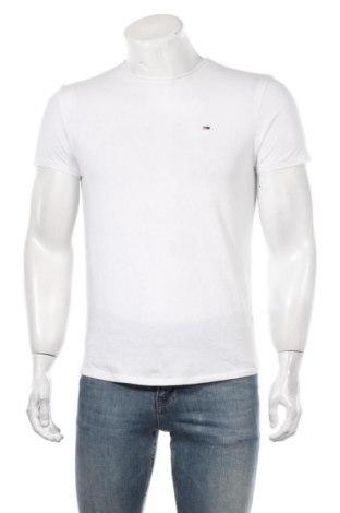Мъжка тениска Tommy Hilfiger, Размер S, Цвят Бял, 50% памук, 50% полиестер, Цена 46,92лв.