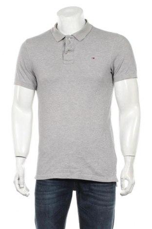 Мъжка тениска Tommy Hilfiger, Размер M, Цвят Сив, Памук, Цена 35,70лв.