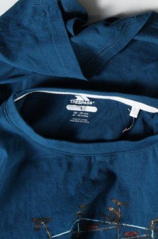 Мъжка тениска Trespass, Размер L, Цвят Син, Памук, Цена 20,88лв.