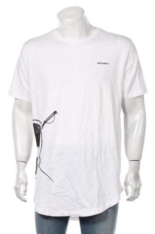 Мъжка тениска Tuffskull, Размер XL, Цвят Бял, Памук, Цена 19,50лв.