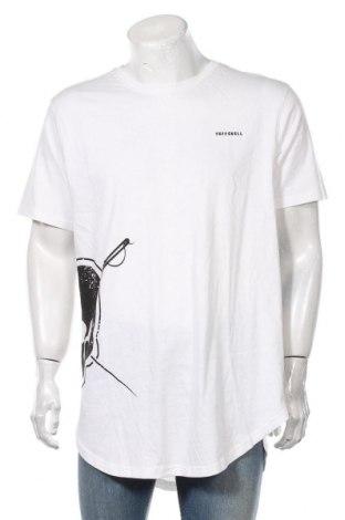 Мъжка тениска Tuffskull, Размер XL, Цвят Бял, Памук, Цена 24,00лв.