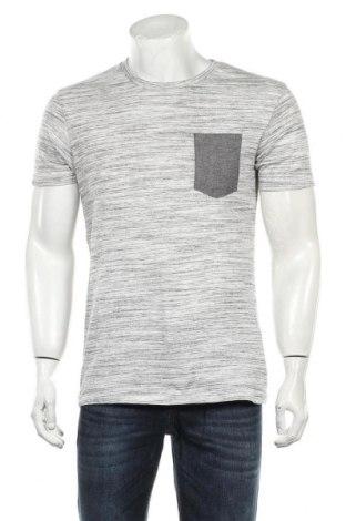 Мъжка тениска Zara Man, Размер M, Цвят Сив, 66% памук, 34% полиестер, Цена 19,50лв.
