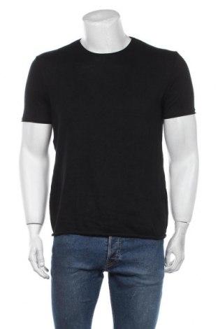 Tricou de bărbați Zara Man, Mărime M, Culoare Negru, 50% bumbac, 50% poliester, Preț 88,82 Lei