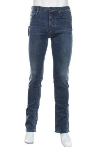 Мъжки дънки Armani, Размер S, Цвят Син, 97% памук, 3% еластан, Цена 291,75лв.