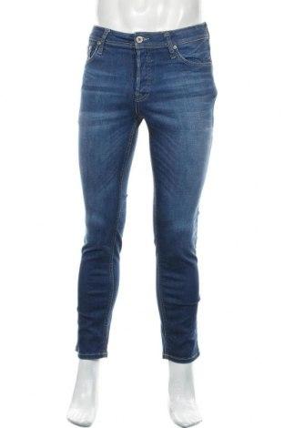 Blugi de bărbați Jack & Jones, Mărime M, Culoare Albastru, 97% bumbac, 3% elastan, Preț 93,75 Lei