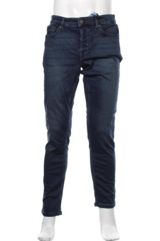 Мъжки дънки Only & Sons, Размер M, Цвят Син, 73% памук, 26% полиестер, 1% естествена кожа, Цена 29,67лв.