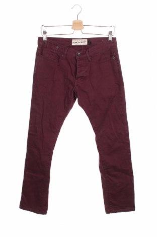 Мъжки дънки Topman, Размер S, Цвят Червен, 98% памук, 2% еластан, Цена 27,30лв.
