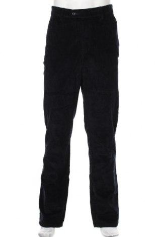 Pantaloni raiați de bărbați Christian Berg, Mărime L, Culoare Albastru, 98% bumbac, 2% elastan, Preț 157,90 Lei