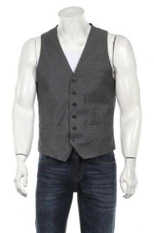 Мъжки елек H&M, Размер L, Цвят Сив, 83% полиестер, 15% вискоза, 2% еластан, Цена 21,42лв.