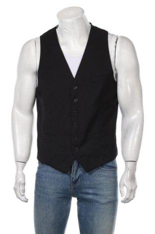Мъжки елек H&M, Размер L, Цвят Черен, Полиестер, вискоза, Цена 22,68лв.