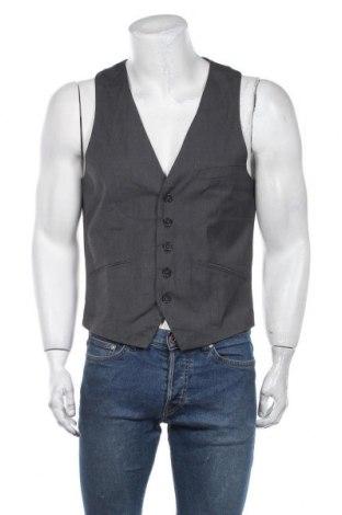 Мъжки елек H&M, Размер M, Цвят Сив, 75% полиестер, 25% вискоза, Цена 25,52лв.