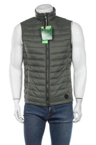 Мъжки елек Tom Tailor, Размер M, Цвят Зелен, Полиестер, Цена 66,75лв.