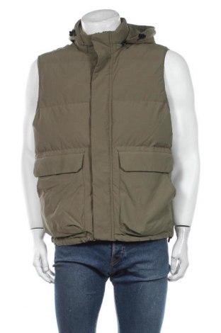 Мъжки елек Zara, Размер L, Цвят Зелен, 55% памук, 45% полиамид, Цена 43,05лв.