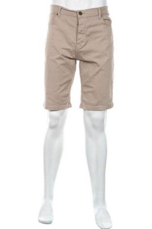 Pantaloni scurți de bărbați Denim Co, Mărime L, Culoare Bej, 98% bumbac, 2% elastan, Preț 69,63 Lei