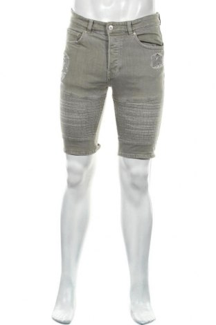 Męskie szorty H&M Divided, Rozmiar S, Kolor Zielony, 98% bawełna, 2% elastyna, Cena 60,75zł