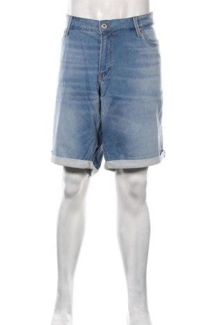 Pantaloni scurți de bărbați Jack & Jones, Mărime 3XL, Culoare Albastru, 77% bumbac, 22% poliester, 1% elastan, Preț 187,50 Lei