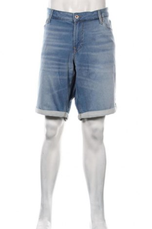 Pantaloni scurți de bărbați Jack & Jones, Mărime 3XL, Culoare Albastru, 77% bumbac, 22% poliester, 1% elastan, Preț 219,57 Lei