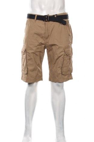 Pantaloni scurți de bărbați Petrol Industries, Mărime M, Culoare Bej, Bumbac, Preț 128,29 Lei