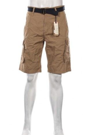 Pantaloni scurți de bărbați Petrol Industries, Mărime L, Culoare Bej, Bumbac, Preț 145,56 Lei