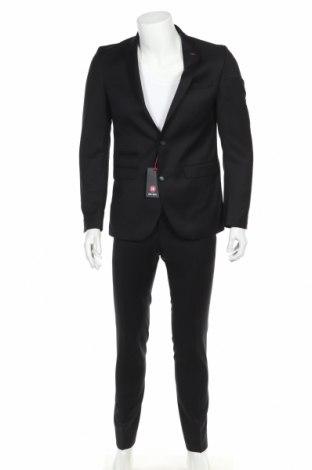 Costum de bărbați Club Of Gents, Mărime S, Culoare Negru, Lână, Preț 614,31 Lei