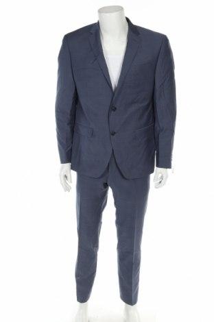 Мъжки костюм Daniel Hechter, Размер L, Цвят Син, Вълна, Цена 321,75лв.