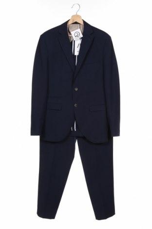 Costum de bărbați Selected Homme, Mărime M, Culoare Albastru, 62% poliester, 37% viscoză, 1% elastan, Preț 663,65 Lei