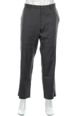 Pantaloni de bărbați Banana Republic, Mărime L, Culoare Gri, Lână, Preț 128,29 Lei