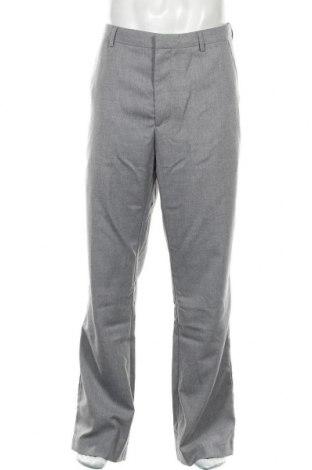 Pantaloni de bărbați Banana Republic, Mărime L, Culoare Gri, 65% poliester, 35% viscoză, Preț 120,89 Lei