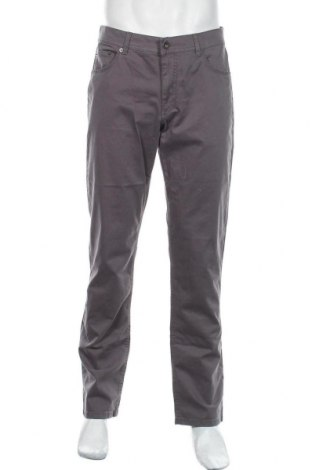 Pantaloni de bărbați Brax, Mărime L, Culoare Gri, 97% bumbac, 3% elastan, Preț 392,27 Lei