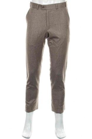 Pantaloni de bărbați Brax, Mărime M, Culoare Bej, 95% lână, 5% elastan, Preț 118,42 Lei