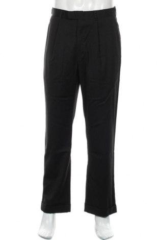 Pantaloni de bărbați DKNY, Mărime M, Culoare Negru, 54% poliester, 45% lână, 1% elastan, Preț 135,69 Lei