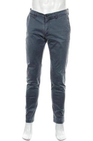 Pantaloni de bărbați Drykorn for beautiful people, Mărime L, Culoare Albastru, 98% bumbac, 2% elastan, Preț 143,09 Lei
