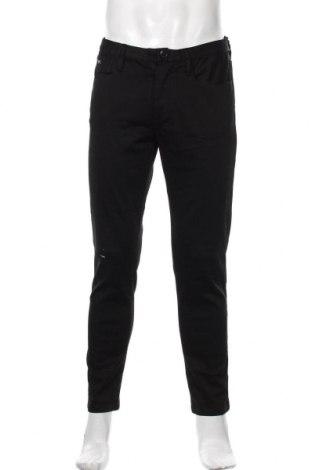 Pantaloni de bărbați Emporio Armani, Mărime M, Culoare Negru, 65% bumbac, 23% modal, 8% poliester, 4% elastan, Preț 371,37 Lei