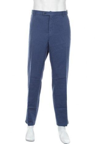 Мъжки панталон Hackett, Размер XXL, Цвят Син, 54% лен, 46% памук, Цена 153,30лв.