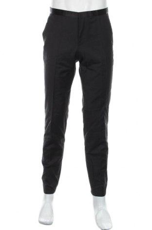 Pantaloni de bărbați Hugo Boss, Mărime M, Culoare Negru, Lână, Preț 935,03 Lei