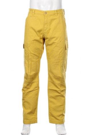 Мъжки панталон Jack Wolfskin, Размер L, Цвят Жълт, Памук, Цена 106,50лв.