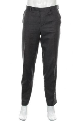 Мъжки панталон Marks & Spencer, Размер L, Цвят Сив, 83% полиестер, 17% вискоза, Цена 25,50лв.