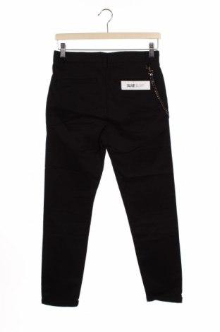 Мъжки панталон Pull&Bear, Размер S, Цвят Черен, 98% памук, 2% еластан, Цена 25,20лв.