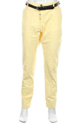 Pantaloni de bărbați Review, Mărime XXL, Culoare Galben, 98% bumbac, 2% elastan, Preț 133,22 Lei