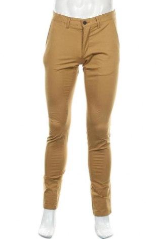 Мъжки панталон Zara Man, Размер M, Цвят Бежов, 98% памук, 2% еластан, Цена 27,00лв.