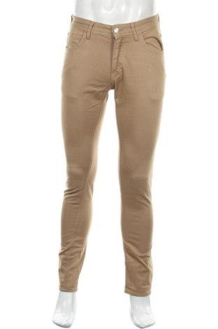 Мъжки панталон Zara Man, Размер M, Цвят Бежов, 98% памук, 2% еластан, Цена 27,75лв.