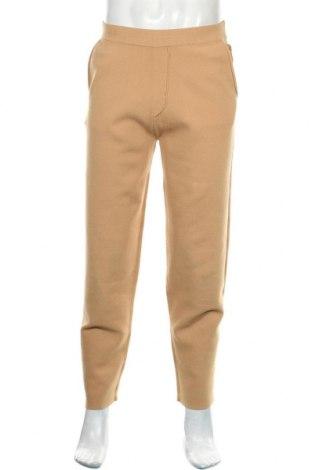 Pantaloni de bărbați Zara Man, Mărime M, Culoare Bej, 50% modal, 47% poliester, 3% elastan, Preț 93,75 Lei