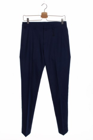 Мъжки панталон Zara Man, Размер S, Цвят Син, 73% полиестер, 23% вискоза, 4% еластан, Цена 27,00лв.