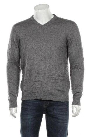 Мъжки пуловер A.W.Dunmore, Размер L, Цвят Сив, 55% коприна, 45% кашмир, Цена 86,10лв.
