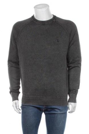 Мъжки пуловер Calvin Klein Jeans, Размер L, Цвят Сив, Памук, Цена 63,07лв.