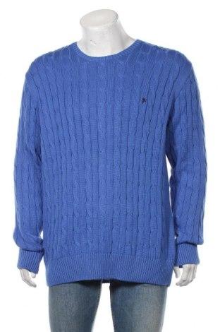 Pulover de bărbați Denim Culture, Mărime 3XL, Culoare Albastru, Bumbac, Preț 325,66 Lei