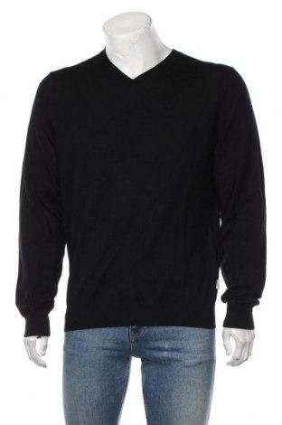 Pulover de bărbați Fynch-Hatton, Mărime L, Culoare Negru, Merinos, Preț 292,76 Lei