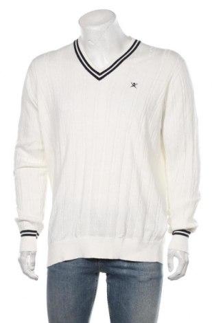 Мъжки пуловер Hackett, Размер XL, Цвят Бял, 95% памук, 5% кашмир, Цена 122,85лв.